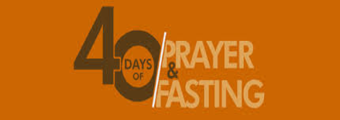 PRAYER AND FASTING DURING LENT 2019